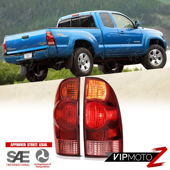 2005 2008 Toyota Tacoma Factory Style Rear Left Right Pair Tail Light Brake Lamp Vipmotoz
