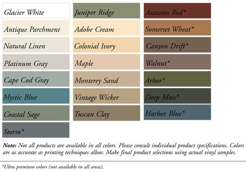 Color Palette Vinyl Siding Pinterest