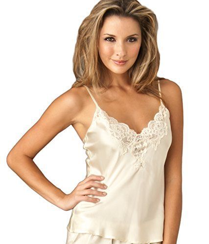 4c68f2a7920de Julianna Rae Womens 100 Silk Camisole Top Lace Trim Flattering Fit Le  Tresor Collection French Vanilla XXL -- You can get additional details at  the image ...