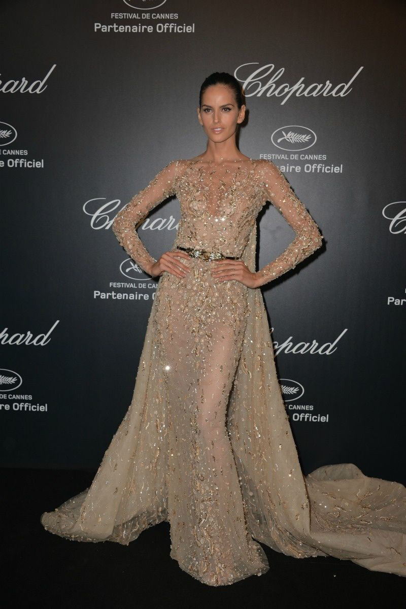 Izabel Goulart in primavera-verano 2015 de Zuhair Murad dress