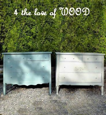 4 The Love Of Wood Matching Antique Dressers 1920 S White Over Aqua Aqua Over White Wood Antique Dresser Antiques