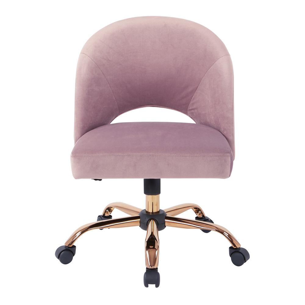 Outstanding Osp Home Furnishings Lula Office Chair In Mauve Fabric With Ibusinesslaw Wood Chair Design Ideas Ibusinesslaworg