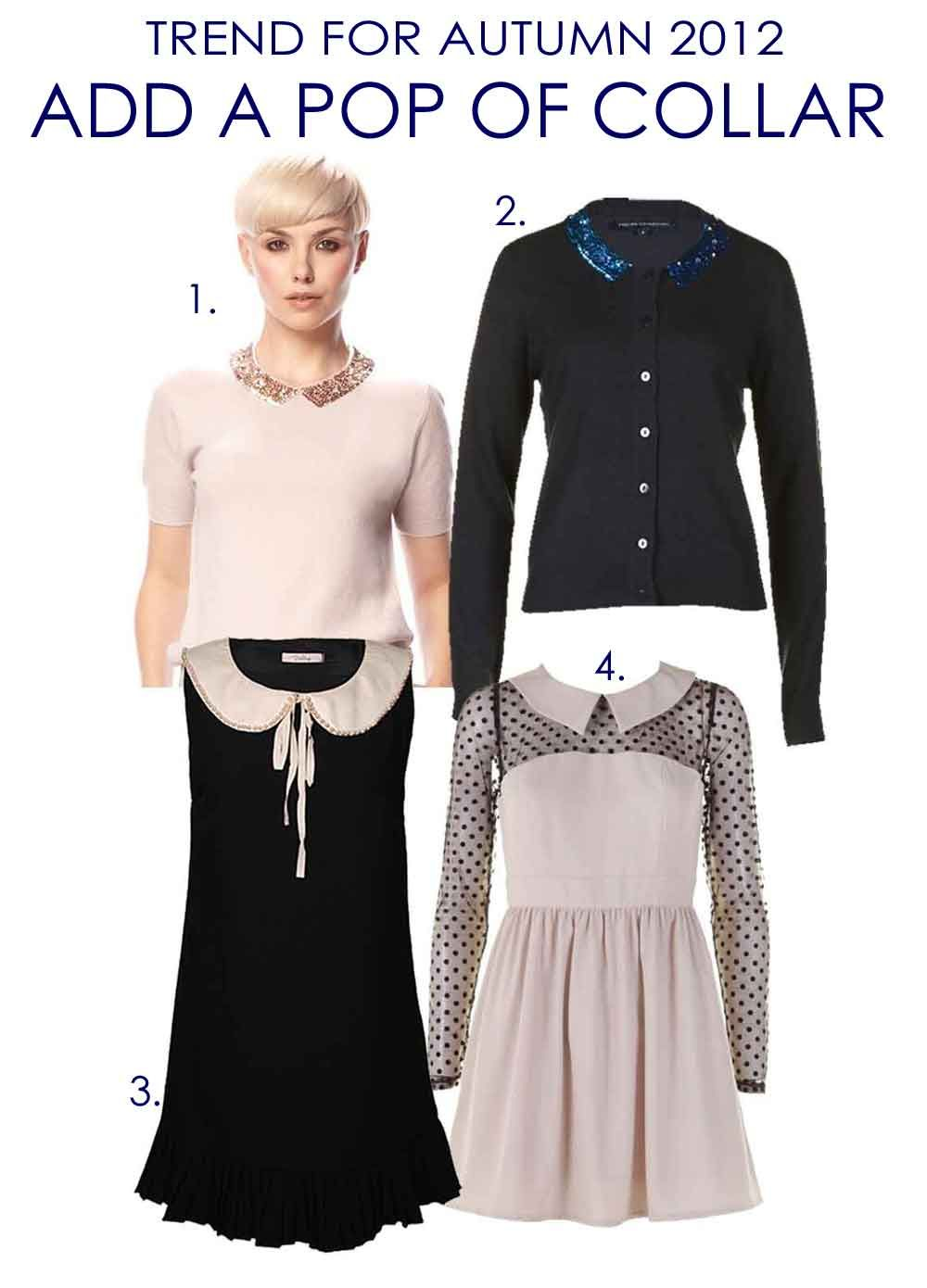 The Collar Trend. AW12. Perfect for workwear too.