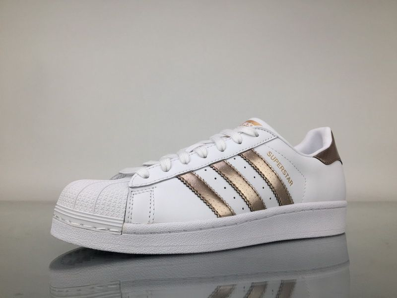 size 40 34d12 62a7a Adidas Superstar Rose Gold Copper White Shell Toes Original ...