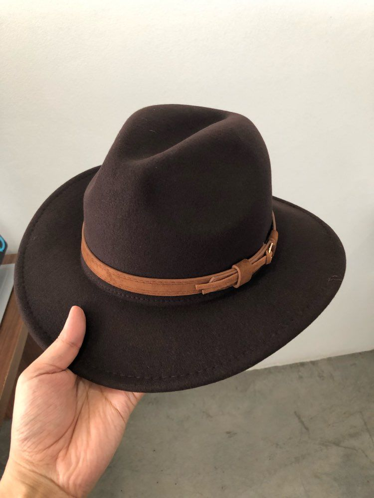 on feet shots of 100% authentic best deals on Men's fedora wool warm and comfortable adjustable large size ...