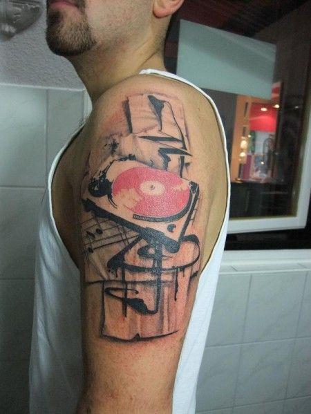 turntable tattoo pesquisa google manguebit tattoo pinterest tattoo music tattoos and. Black Bedroom Furniture Sets. Home Design Ideas