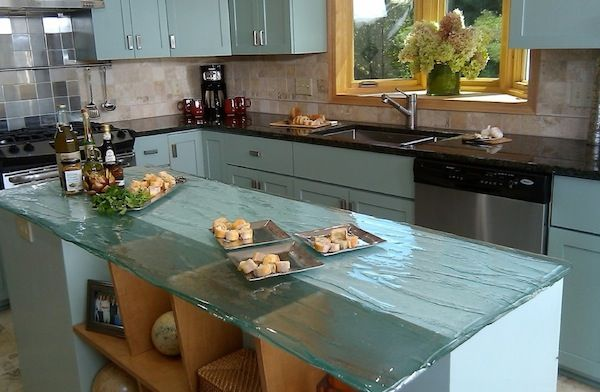 Ideas to Change your Kitchen with Glass - glas arbeitsplatte küche