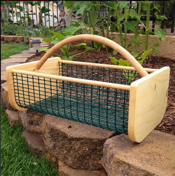 Garden Hod Hand Crafted for Harvesting or Storage Gardens
