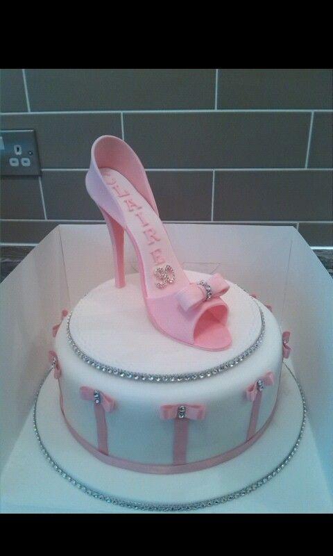 Swell Pretty Pink High Heel Shoe Cake 30Th Birthday Pink High Heel Birthday Cards Printable Inklcafe Filternl