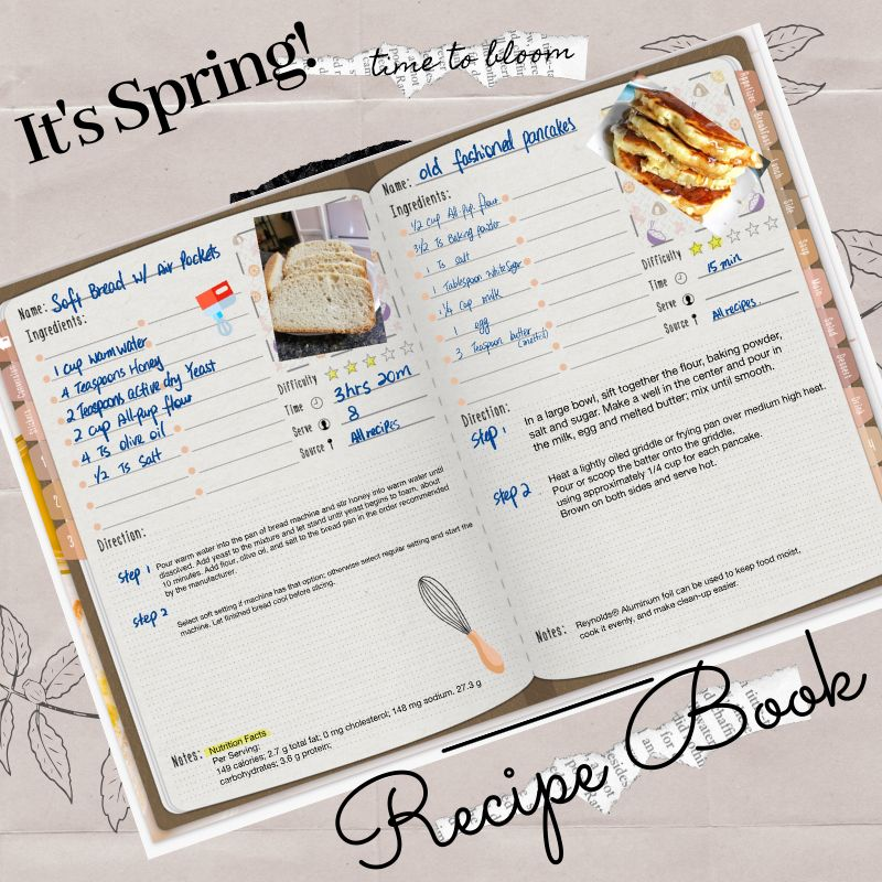 Digital Recipe Book For Goodnotes Notability Ipad Recipe Notebook Recipe Digital Templates Recipe Paper Digital Recipe Book Recipe Book Beautiful Planner