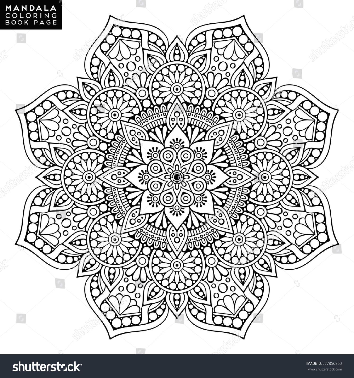 Stock Vector Flower Mandala Vintage Decorative Elements