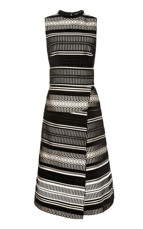 Baja Velvet Jacquard Sleeveless Wrap Dress by Proenza Schouler for Preorder on Moda Operandi