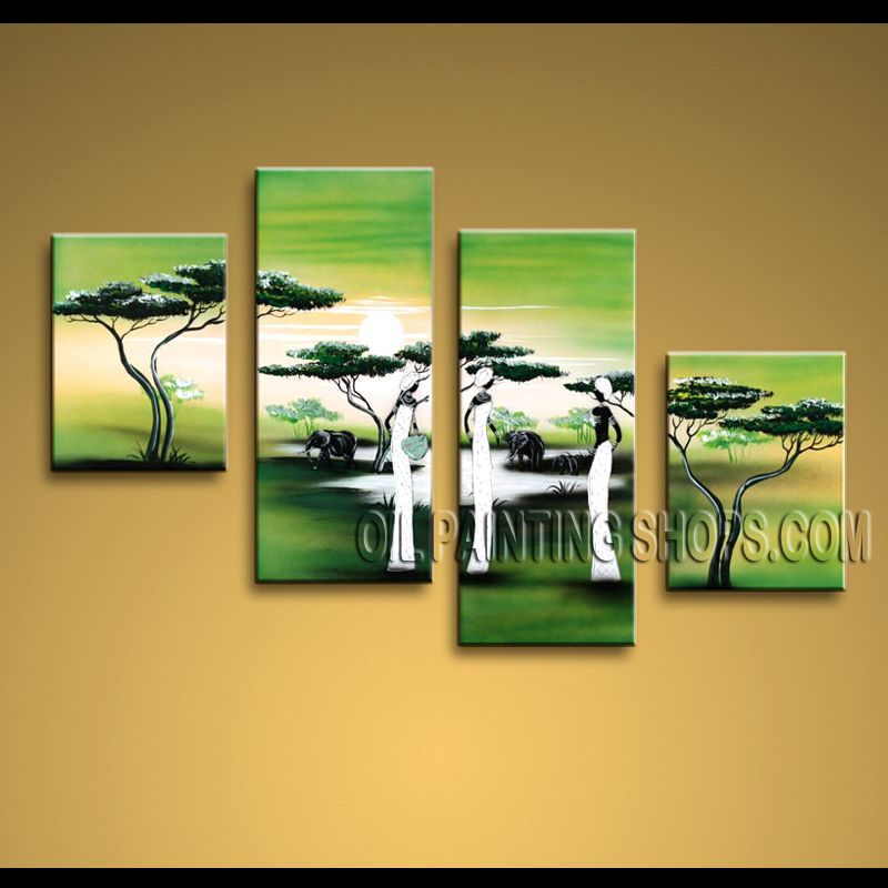 Enchanting Contemporary Wall Art Oil Painting On Canvas Panels ...