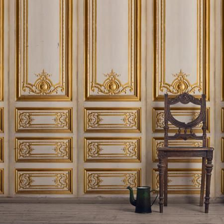 Vintage French Charm Gilded Decorative Wallpaper Panels