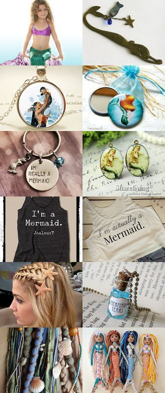 Le marque-page sirène. Mermaid ! by Laetitia on Etsy--Pinned with TreasuryPin.com