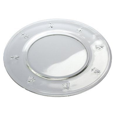 """La Rochere Bee Plate, 12-1/2"""" by La Rochere. $26.95. Made in France. Bee design is an endearing and enduring symbol of France. Uniquely crystal-clear and elegant. Heavy-duty and durable glassware is dishwasher safe. Perfect for every day use and special occasions. Delightful 3-dimensional bees adorn the La Rochere 12-1/2-Inch Bee Plate. Since the days of Napoleon, the industrious bee has been an endearing and enduring symbol of France. La Rochere Bee glassware ..."""