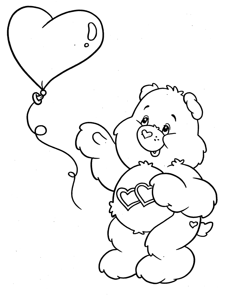 Care Bear Coloring Pages Google Search Bear Coloring