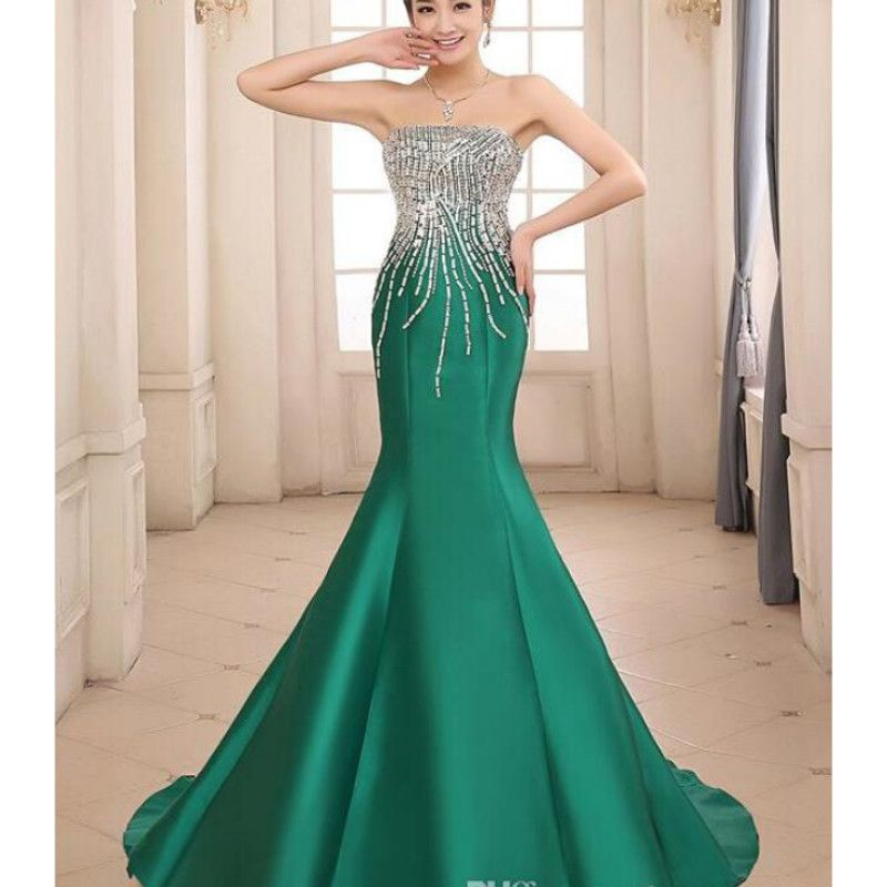 Find More Prom Dresses Information about Long Mermaid Green