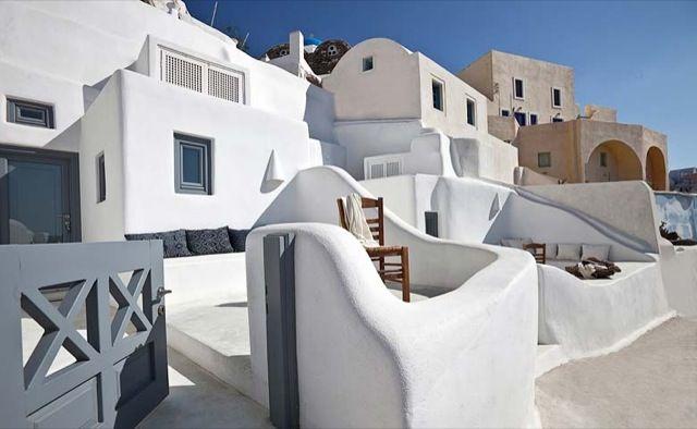 Terraza griega casas mediterraneas pinterest for Decoracion casa griega