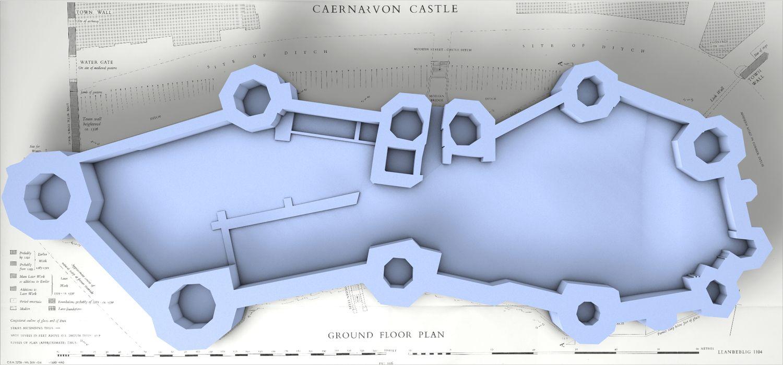 Caernarfon Castle Castle Caernarfon Ground Floor Plan