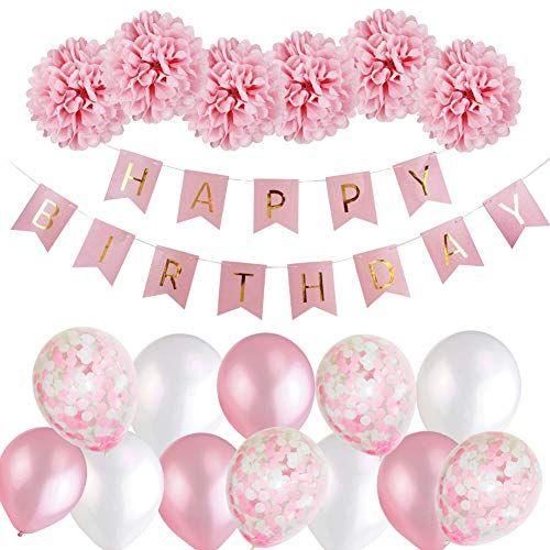 Mmttx Geburtstagsdeko Madchen Mmtx Happy Birthday Girlande Ballons