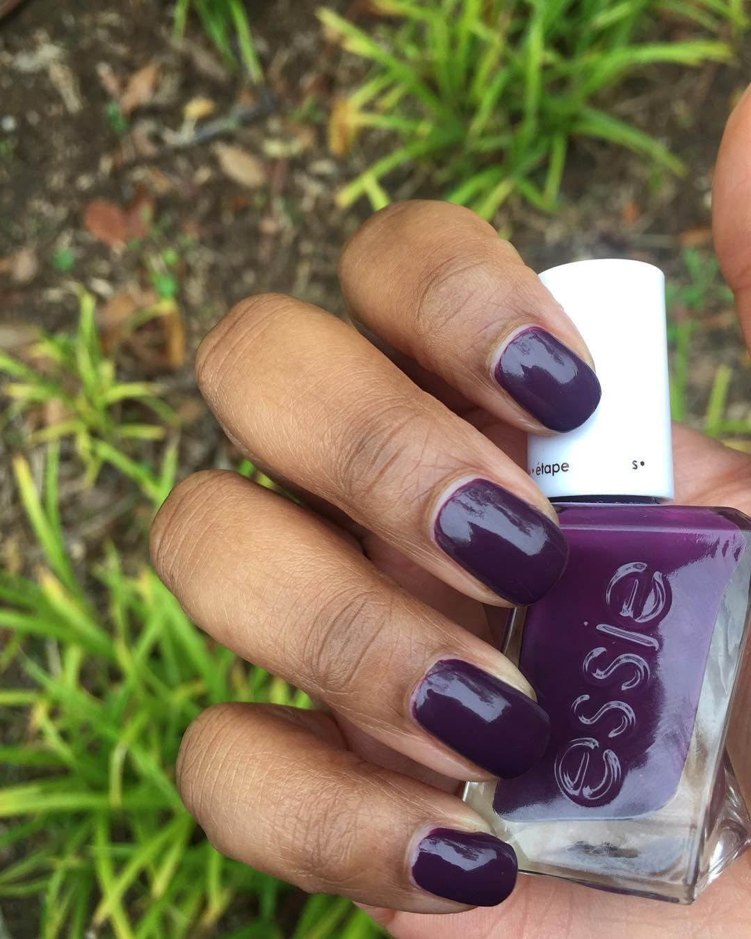 Nice Dark Purple Nail Polish Essie Crest - Nail Polish Ideas ...