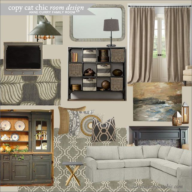 Copy Cat Chic Clients Anne Curry Family Room 2890 Love the grey