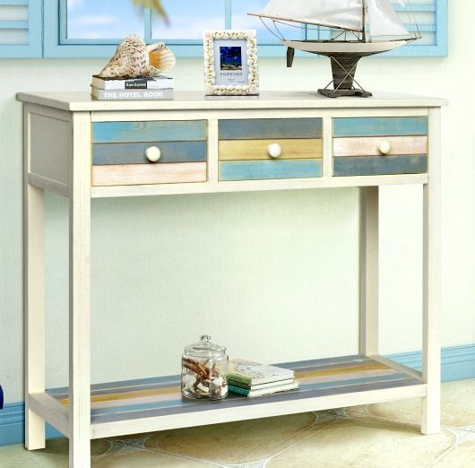 Beach Color Console Tables autologous Beach House Style