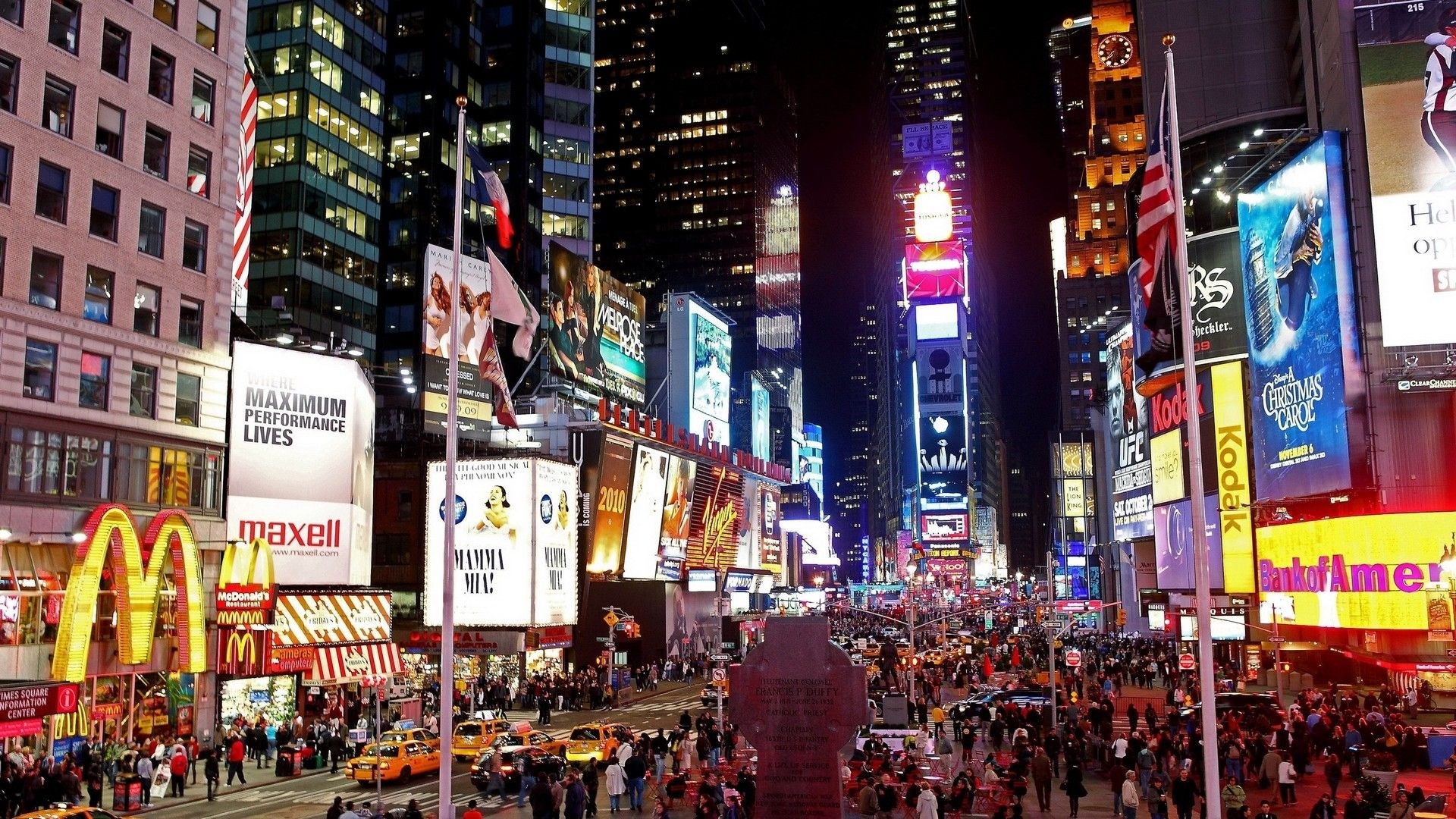 Download Abstract City Night Fantasy Hd Nature Street Original New York Manhattan 1811228 And Hq Pictures Megahdwall Com Times Square