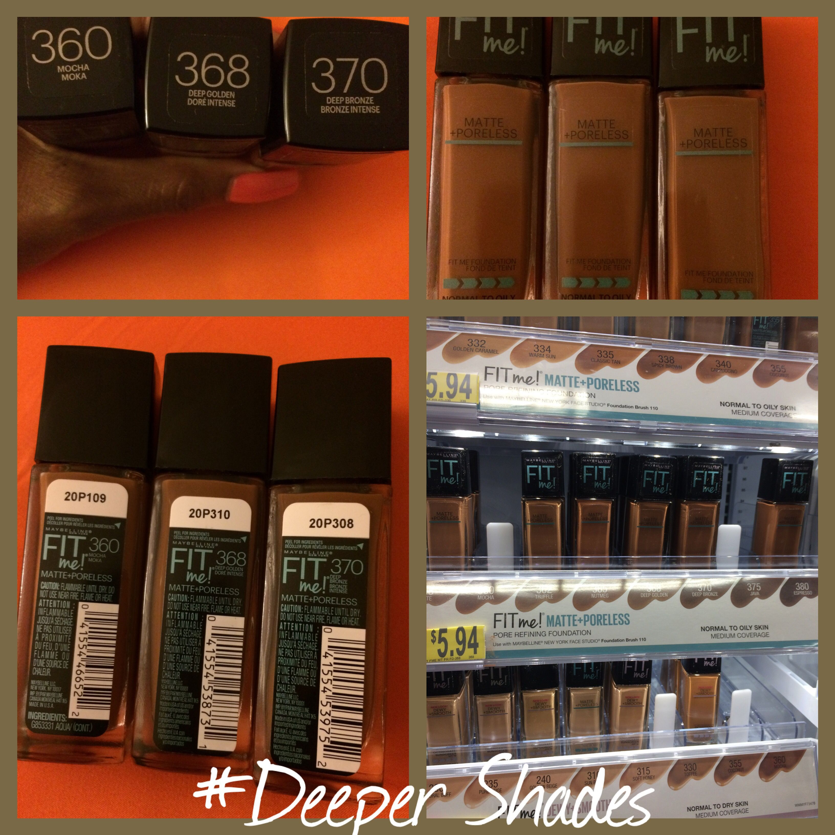 Maybelline fit me 368 woc drugstore foundation