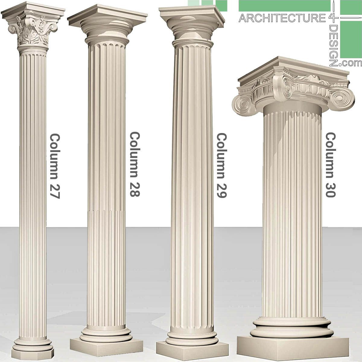Pin By Architecture Design On Classical Columns 3d Models