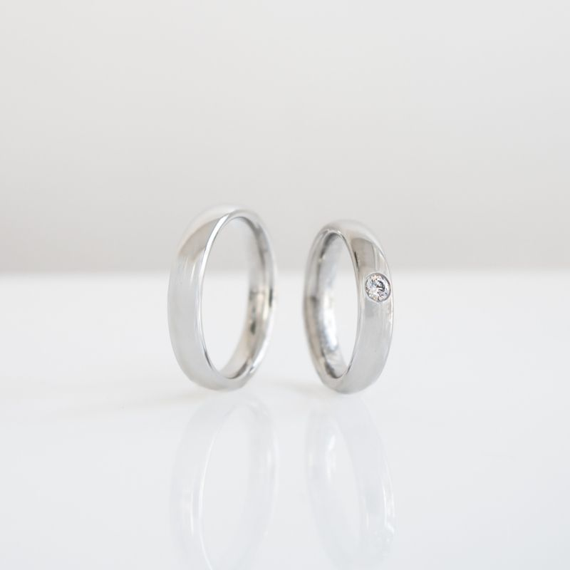 Modern Classic White Gold Wedding Band The Bofb Modern Design Wedding Ring Collection By Bertie H Wedding Ring Collections Wedding Rings Wedding Ring Designs