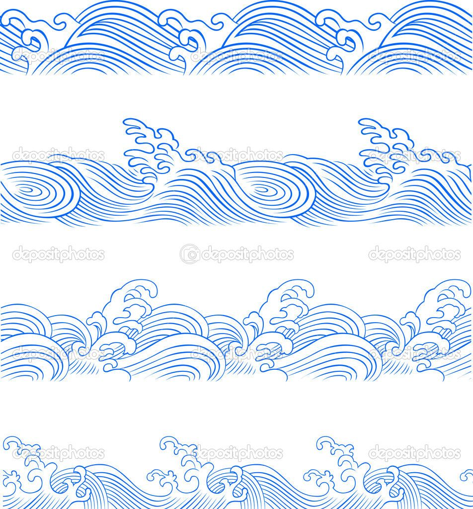 Asian waves pattern google search art pinterest wave asian waves pattern google search amipublicfo Images