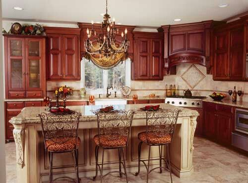 Burgundy Cabinets | French country kitchen colors, French ...
