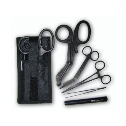 Shears; EMT/Scissors combo pack w/holster -Tactical All Black