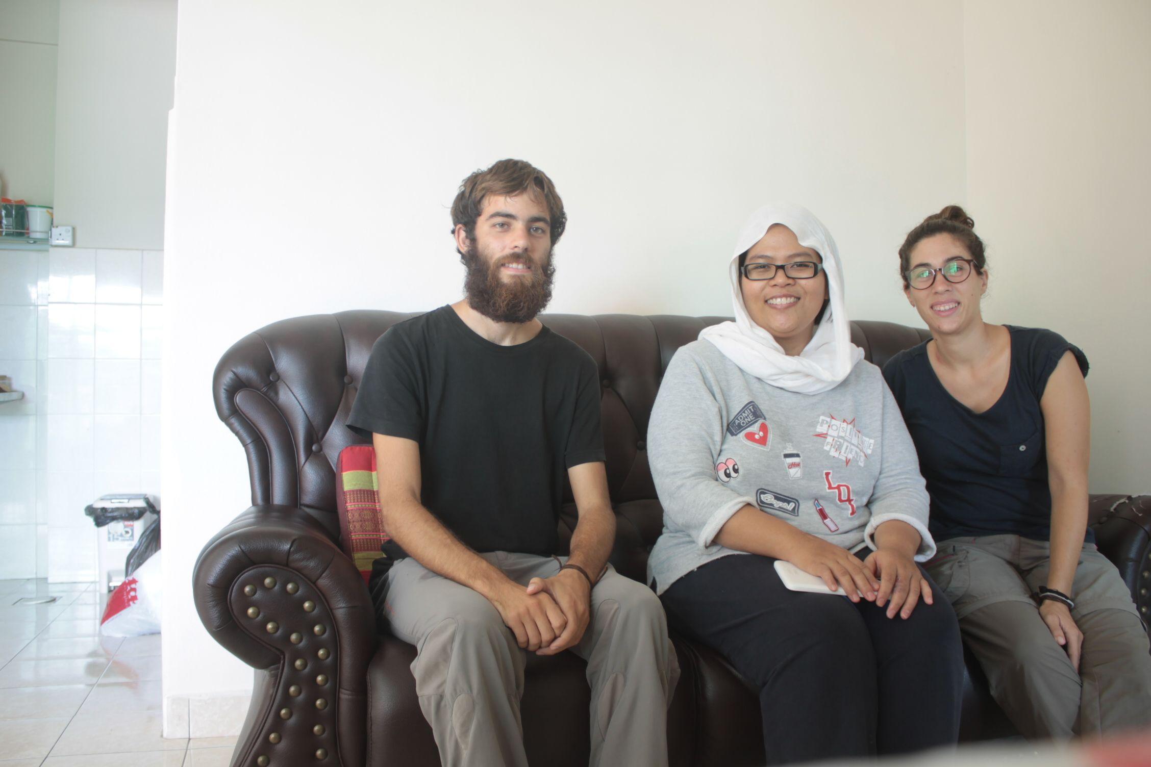 Con nuestra gran amfitriona, Noor :)