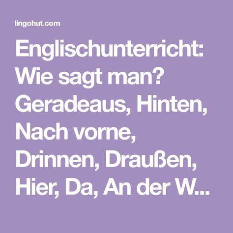 Hinten Englisch