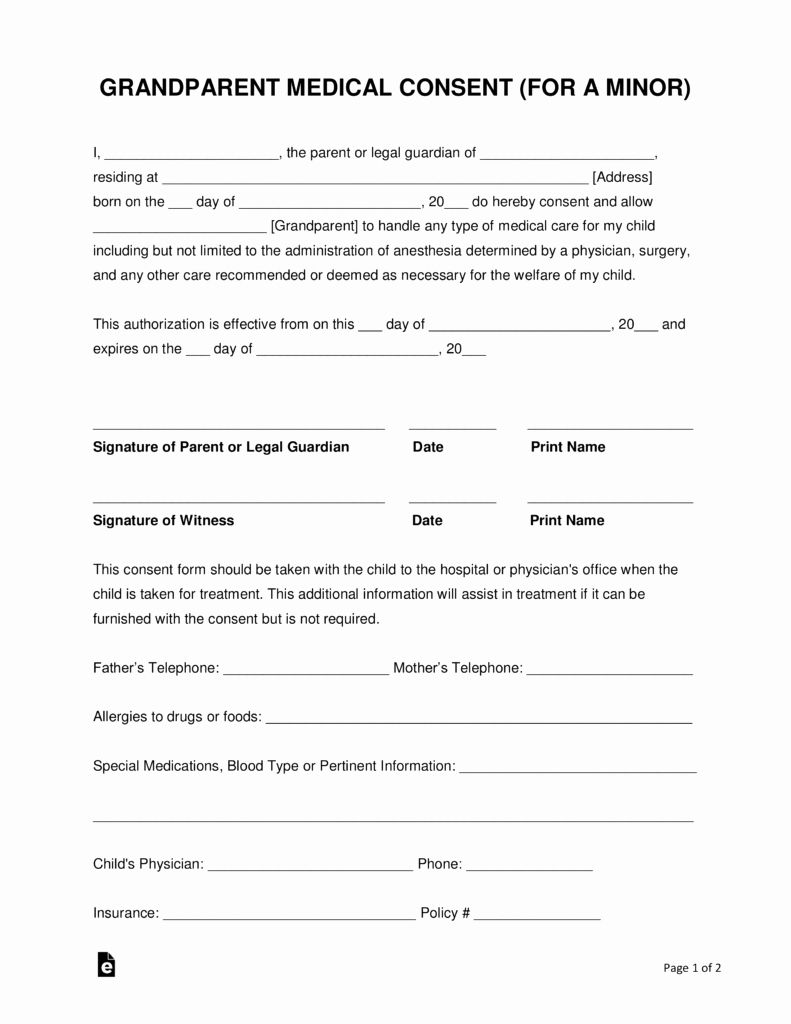 30 Medical Consent form Template Free in 2020 Medical