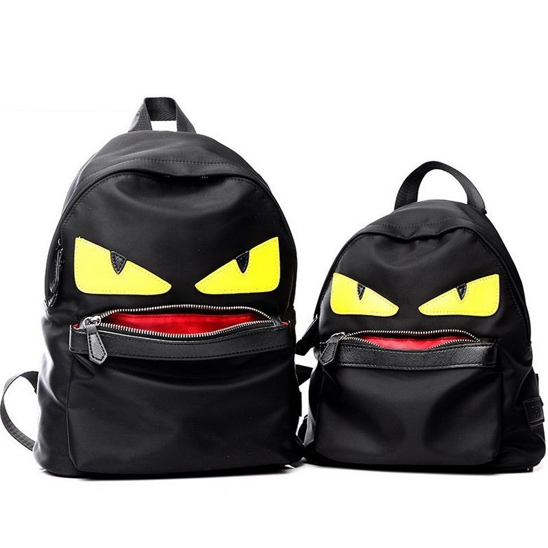 54f5dd0602ad Demon Big Eyes Small Monster Fashion Backpack Monster Teenagers ...