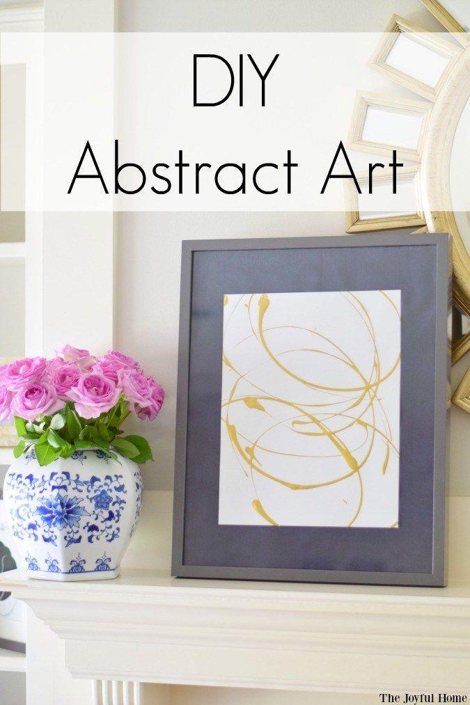 Diy abstract art tutorials joyful and crafts for Diy abstract wall art