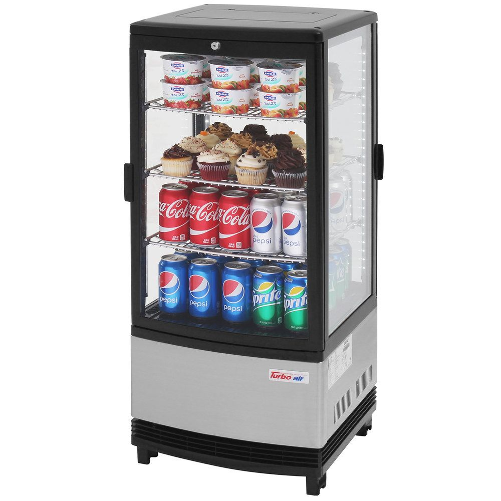 Turbo Air Crt 77 2r Diamond Show Case Pass Through Countertop Display Refrigerator With Swing Doors Countertop Display Display Refrigerator Stainless Steel Shelving