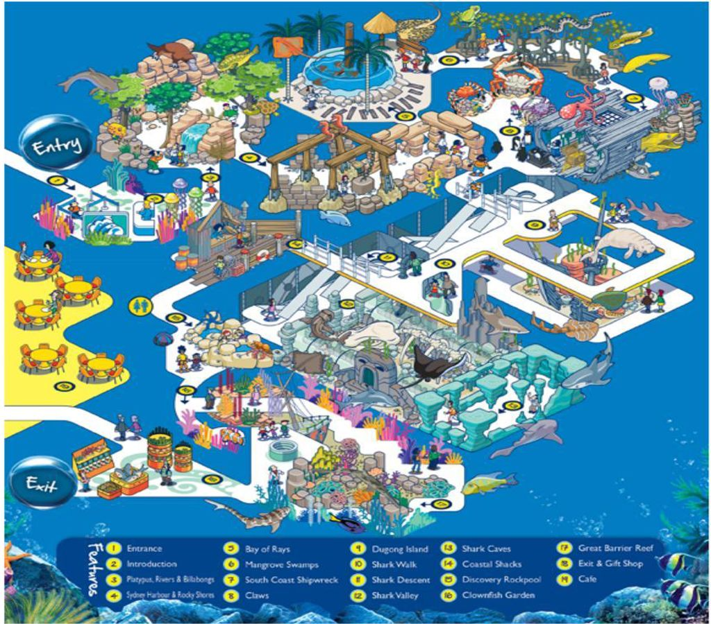Sea Life Sydney Aquarium Map With Images Sea Life Sea Life