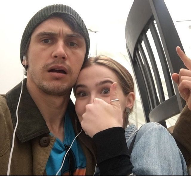 Zoey Deutch And James Franco On Set Of Why Him