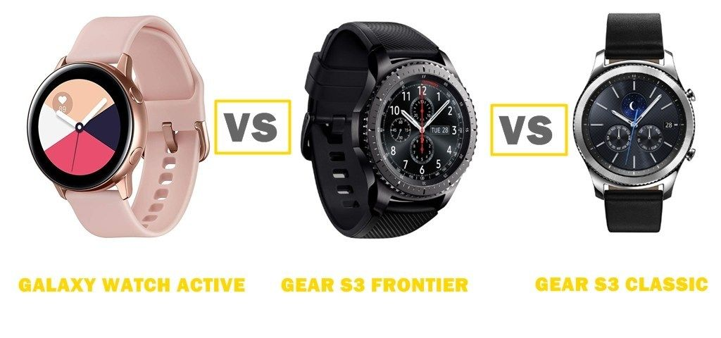 Featured In This Comparison Are The Samsung Galaxy Watch Active Vs Gear S3 Frontier Vs Gear S3 Classic All F Samsung Watches Gear S3 Frontier Samsung Galaxy