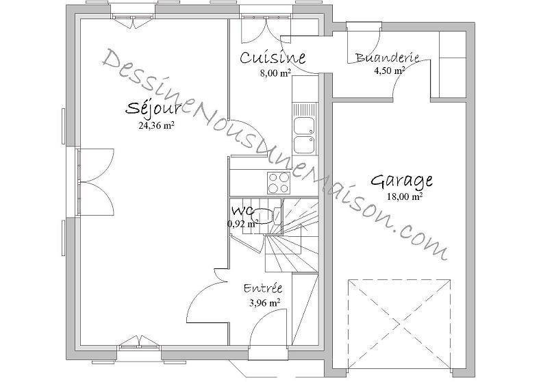 Populaire Plans de Maisons individuelles avec étage (ou combles aménagés  OB92