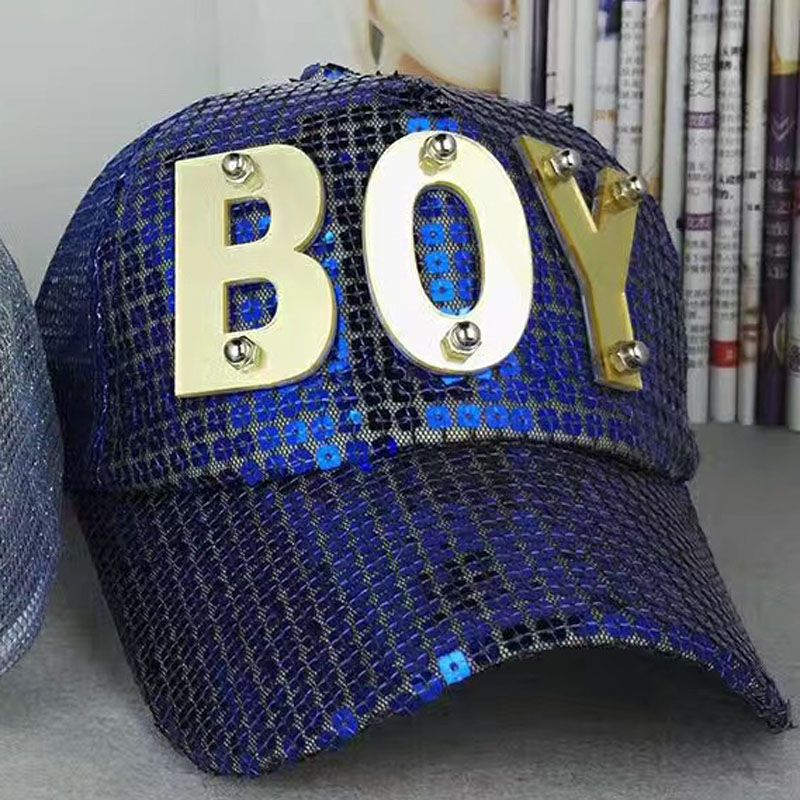 6371a0b15cc Fashion Metal Element BOY Kids Baseball Cap Snapback Caps Rivets Sequins  Boys Girls sun Hat Casquette