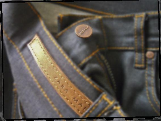 pantalon vaquero pitillo con cremallera by zara