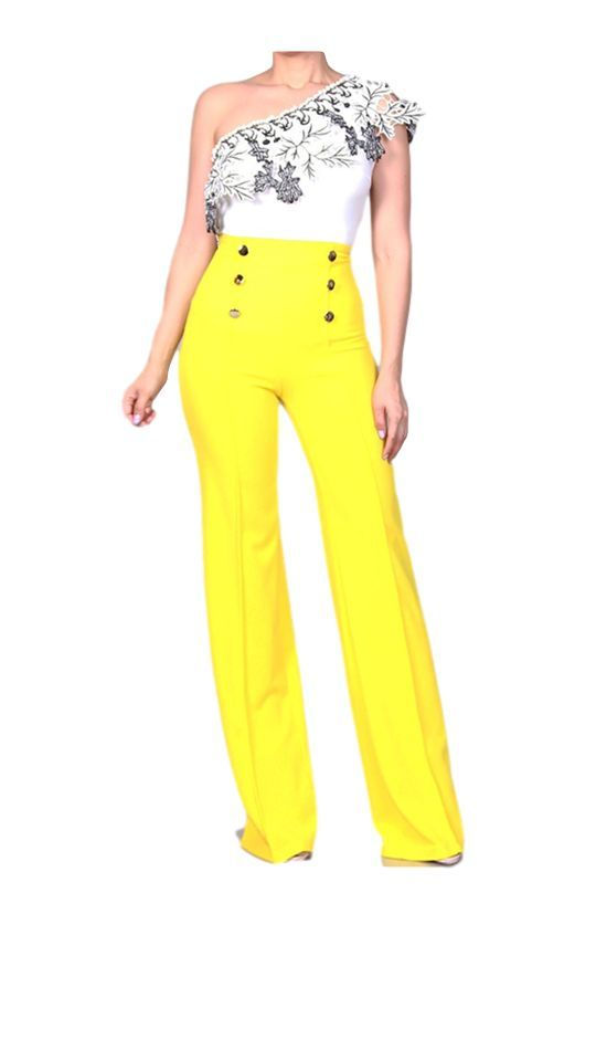 PRETTY THING HIGH WAISTED PANTS