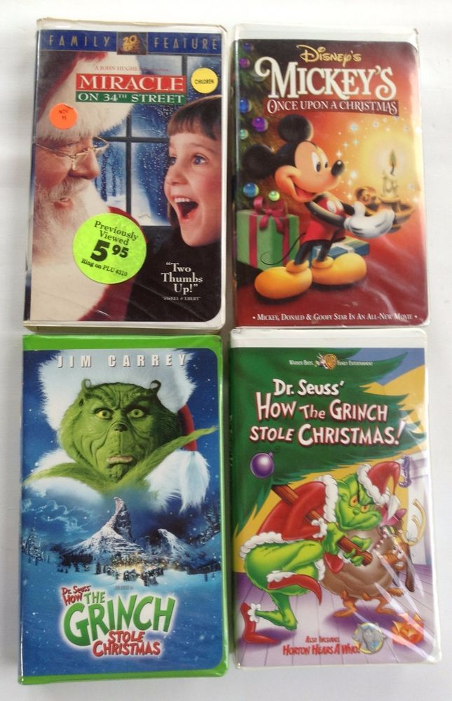 vhs tapes how the grinch stole christmas miracle on 34th mickeys once upon - Mickeys Once Upon A Christmas Vhs