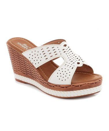 Look At This Zulilyfind White Comfort Wedge By Lady Godiva